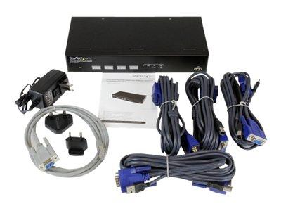 StarTech.com 4 Port USB VGA KVM Switch with DDM Fast Switching Technology and Cables
