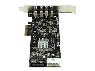StarTech.com 4 Port PCI Express (PCIe) SuperSpeed USB 3.0 Card Adapter w/ 2 Dedicated 5Gbps Channels
