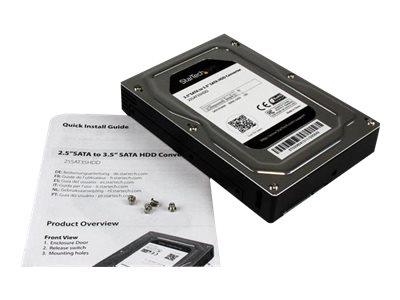 "StarTech.com 2.5"" to 3.5"" SATA Aluminium Hard Drive Adapter Enclosure SSD / HDD Height up to 12.5mm"