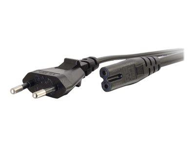 C2G 3m European Non-Polarised Power Cord CEE 7/7 - IEC 60320 C7