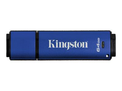 Kingston 64GB  DTVP30/ 256bit AES Encrypted USB 3.0