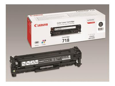 Canon 718 Black Toner Cartridge 3.4k Yield Twin Pack