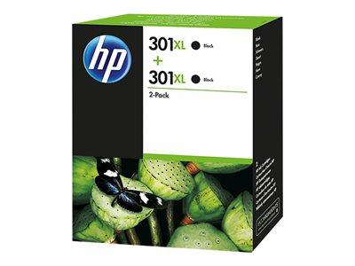 HP 301XL Black Ink Cartridge Twin Pack