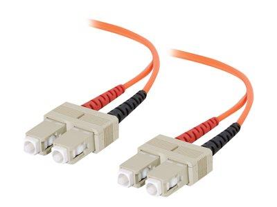 C2G 20m SC-SC 62.5/125 OM1 Duplex Multimode PVC Fibre Optic Cable (LSZH) - Orange