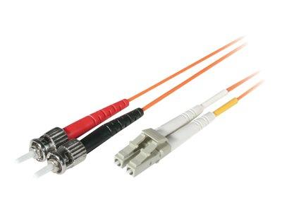C2G 20m LC-ST 62.5/125 OM1 Duplex Multimode PVC Fibre Optic Cable (LSZH) - Orange