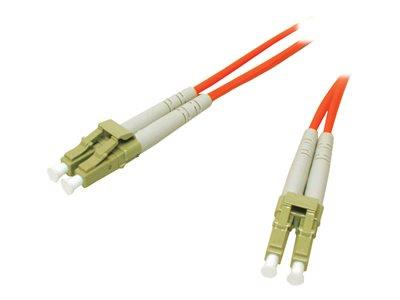 C2G 15m LC-LC 62.5/125 OM1 Duplex Multimode PVC Fibre Optic Cable (LSZH) - Orange