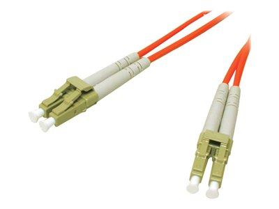 C2G 20m LC-LC 62.5/125 OM1 Duplex Multimode PVC Fibre Optic Cable (LSZH) - Orange