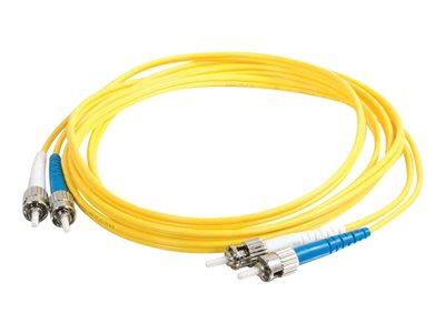 C2G 7m ST-ST 9/125 OS1 Duplex Singlemode PVC Fibre Optic Cable (LSZH) - Yellow