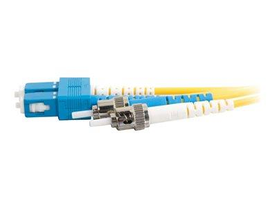 C2G 30m SC-ST 9/125 OS1 Duplex Singlemode PVC Fibre Optic Cable (LSZH) - Yellow