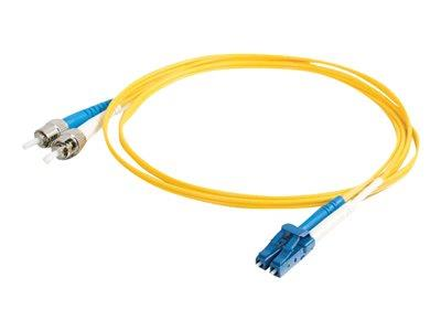 C2G 2m LC-ST 9/125 OS1 Duplex Singlemode PVC Fibre Optic Cable (LSZH) - Yellow