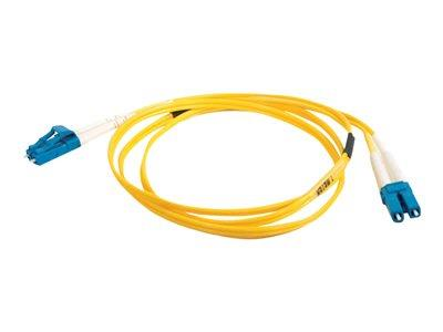 C2G 2m LC-LC 9/125 OS1 Duplex Singlemode PVC Fibre Optic Cable (LSZH) - Yellow