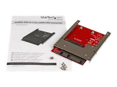 StarTech.com mSATA SSD to 2.5in SATA Adapter Converter