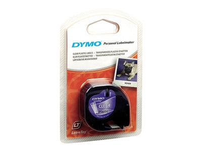 DYMO LetraTag Tape 12mm Plastic Transparent
