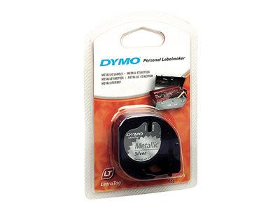 DYMO LetraTag Tape 12mm Metallic Silver
