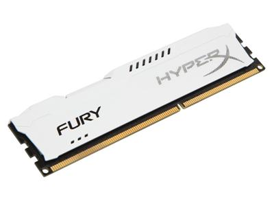 HyperX FURY White 8GB DDR3 1600MHz CL10 DIMM Memory