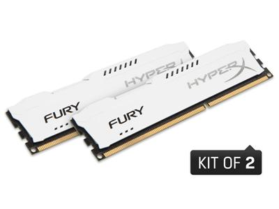 Kingston 8GB (2 x 4GB) HyperX Fury White Series 1866MHz DDR3 CL10 DIM