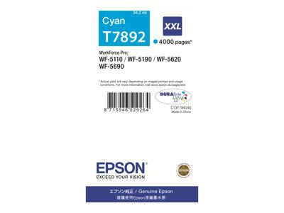 Epson T7892 XXL Cyan Ink Cartridge