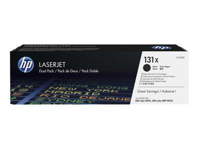 HP 131X Black 2 Pack LaserJet Toner Cartridge