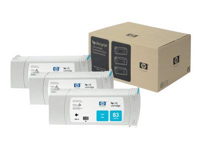 HP 83 3-pack 680-ml Cyan UV Cartridges