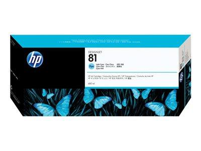HP 81 680-ml Light Cyan Dye Ink Cartridge