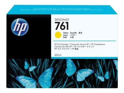 HP 761 400-ml Yellow Designjet Ink Cartridge