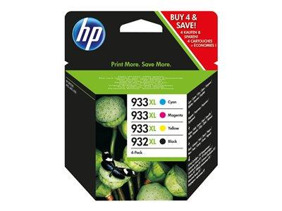 HP 932XL Black / 933XL Cyan / Magenta / Yellow 4-pack Original Ink Cartridge