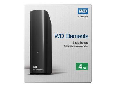 "WD 4TB Elements USB 3.0 3.5"" Desktop Hard Drive"