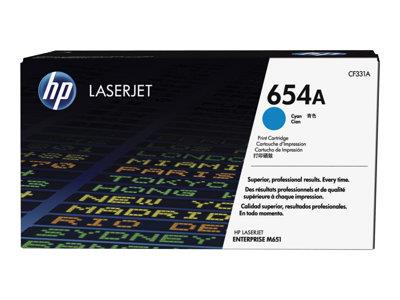 HP 654A Cyan Original LaserJet Toner Cartridge