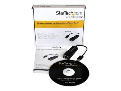 StarTech.com USB 2.0 to 10/100 Mbps Ethernet Network Adapter Dongle