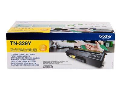 Brother TN-329Y Yellow Toner Cartridge 6k Yield