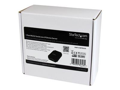 StarTech.com 1 Port RS-232 Serial to IP Ethernet Device Server - DIN Rail Mountable