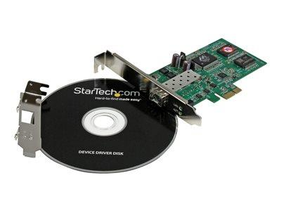StarTech.com PCI Express Gigabit Ethernet Fiber Network Card w/ Open SFP - PCIe SFP Network NIC