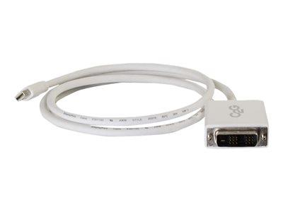 C2G 2m Mini DisplayPort Male to Single Link DVI-D Male Adapter Cable - White