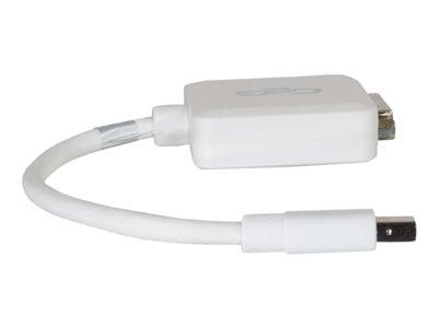 C2G 20cm Mini DisplayPort Male to Single Link DVI-D Female Adapter Cable - White
