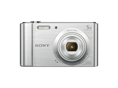 Sony DSC-W800 Compact Digital Camera Silver 20.1 MP 5 x Optical Zoom
