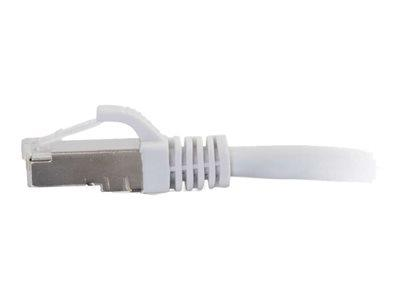 C2G 0.3m Cat6a Booted Shielded (SSTP) Network Patch Cable – White