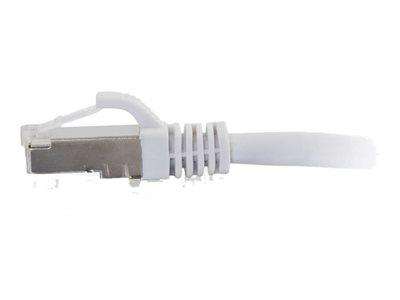 C2G 0.5m Cat6a Booted Shielded (SSTP) Network Patch Cable – White