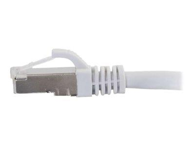 C2G 1.5m Cat6a Booted Shielded (SSTP) Network Patch Cable – White
