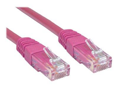 Cables Direct 0.25m CAT 6 UTP PVC Injected Moulded Cable Pink - B/Q 500
