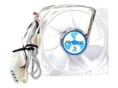 Antec TriCool 12cm Clear Case Fan 3 Speed 3-pin with 4-pin Adaptor