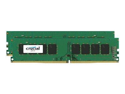 Crucial 8GB Kit (2x4GB) DDR4 2133 MT/s (PC4-17000) CL15 SR x8 Unbuffered DIMM 288pin