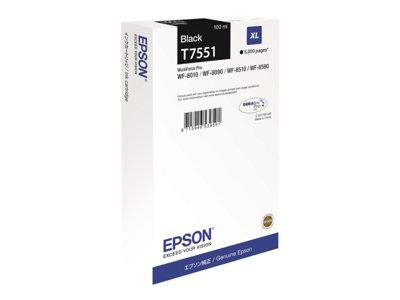 Epson C13T755140 XL Black Ink Cartridge 5k Yield