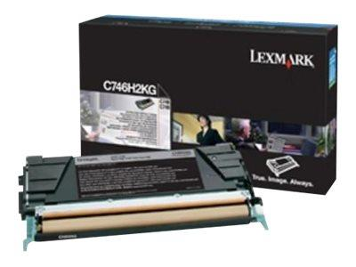 Lexmark C746H3KG Black High Yield Toner Cartridge