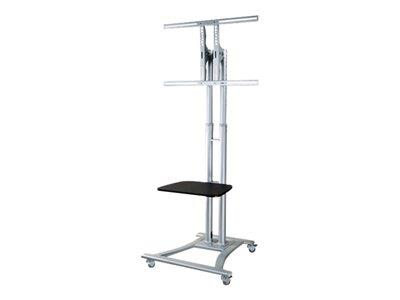 "NewStar Mobile Flatscreen Floor Stand 27-60"" 1 screen"