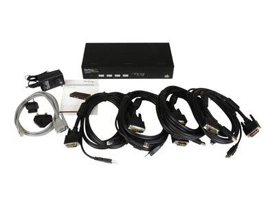 StarTech.com 4 Port USB DVI KVM Switch with DDM Fast Switching Technology and Cables