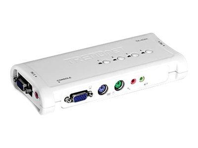 TRENDnet 4-Port PS/2 KVM Switch Kit w/Audio