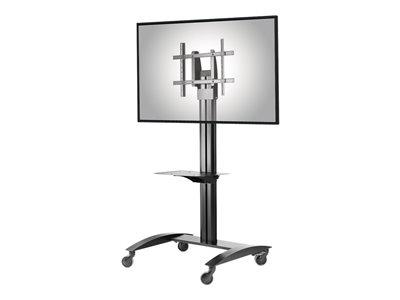 "Peerless-AV Trolley For 32-75"" Flat Panel Displays - Tinted Glass Shelf"