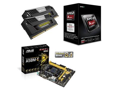 Asus AMD FM2+ Performance Bundle (Includes A58M-E, AMD A10-6800K and 8GB  Vengeance Pro Memory)