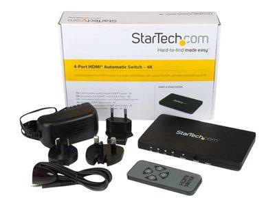 StarTech.com 4-Port HDMI video switch – 4K