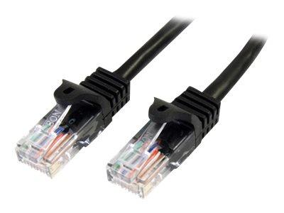 StarTech.com 2m Black Cat 5e Patch Cable